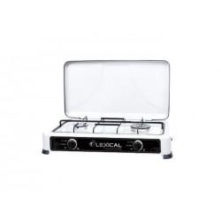 Газовая плита настольная Lexical LGS-2812-1 на 2 конфорки White