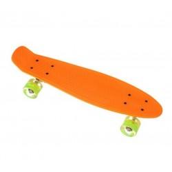 """Пенни борд Penny Board 22"""" для детей и подростков Салатовый цвет. Светящиеся колеса."""