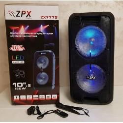 Портативная акустическая система ZPX ZX-7775 с беспроводным микрофоном 150 Вт
