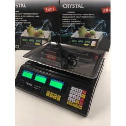 Весы торговые со счетчиком цены Crystal CT-500 до 50 кг