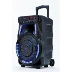 Колонка на аккумуляторе с микрофоном ZPX ZX-7774 мощностью 90W светодиодная RGB Led подсветка динамика (USB/Bluetooth/FM)