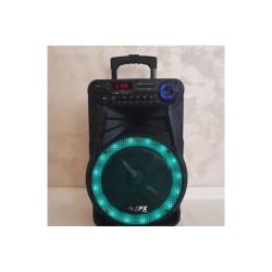 Колонка на аккумуляторе с беспроводным микрофоном ZPX ZX-7771 / 120W (USB / Bluetooth / FM)