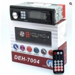автомагнитола со съемной панелью с 2-я выходами USB, SD, FM приемником и AUX DEX-7004
