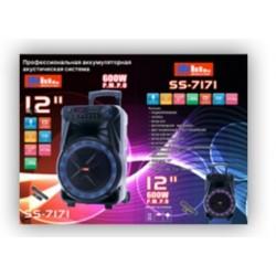 """Акустическая переносная колонка SS-7171 600Вт 12"""" 0х0х0см USB/SD/FM/BT/MIC/ДУ 1шт 9065 l"""