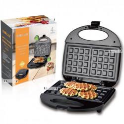 Вафельница электрическая для бельгийских вафель Haeger 750W Черная HG-226