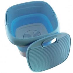 Складная стиральная машина Maxtop ЕТ-168 силиконовая, голубая с белым