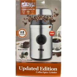 Электрическая кофемолка для кофейных зерен и специй DSP KA-3045 объемом 75г и мощностью 200 Вт