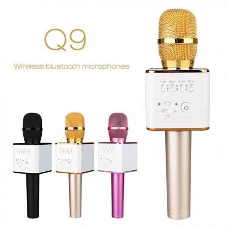 Беспроводной микрофон караоке bluetooth MicGeek Q9 Karaoke с чехлом Золотой