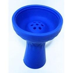 Чашка для кальяна силиконовая с бортом Синяя
