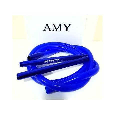 Трубка для кальяна силиконовая Amy Синяя