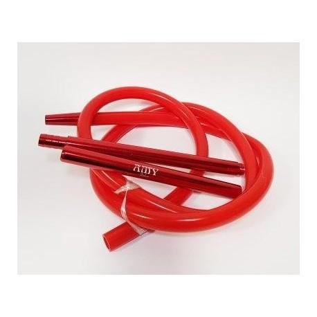 Трубка для кальяна силиконовая Amy Красная