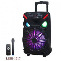 Акустика активная караоке LIGE Ailiang 1717 PRO Беспроводной микрофон,Bluetooth, Мощность120 Ватт, Светомузыка