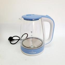 Электрический чайник стеклянный Crownberg CB-9410 цвет голубой