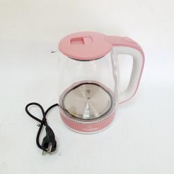 Электрический чайник стеклянный Crownberg CB-9410 цвет розовый