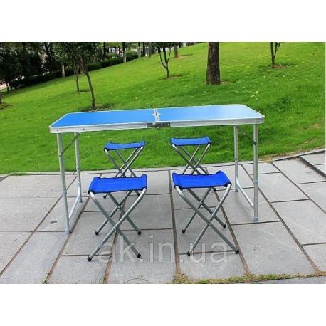 Раскладной стол для пикника со стульями Folding Table 4 Seat, стол и 4 стула, стол раскладывающийся