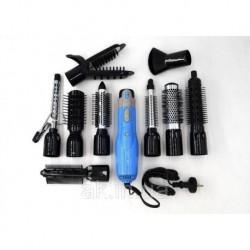 Фен-щётка для волос с насадками 10 в 1 Gemei GM-4833 (1000 Вт)