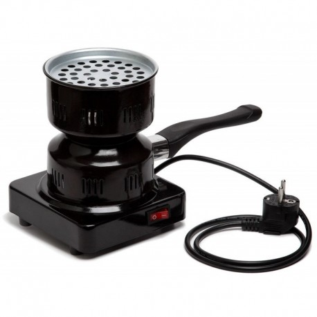 Электроплитка чёрная 1000ВТ с предохранителем