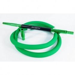 Силиконовый шланг Софт тач Soft-Tuch с алюминиевым мундштуком AMY Deluxe black черный зеленый