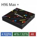 ТВ-приставка H96 Max+ (4/32 Gb) 4-ядерная на Android 9.0