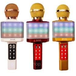 Портативный беспроводной блютуз микрофон WS-1828 + караоке