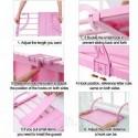 Полка подвесная домашняя балконная регулируемая складная сушилка для одежды и обуви