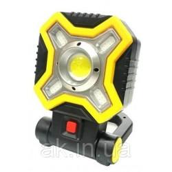 Прожектор JX-9957 аккумуляторный светодиодный оснащен 5 диодами