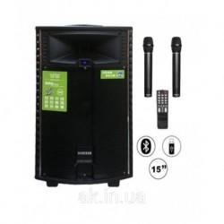Автономная акустическая система TMG QX-1521 (BT+2MIC+USB+SD)