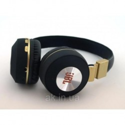 Блютуз JBL V682 Headset копия, Bluetooth наушники (бездротові навушники) с FM MP3, черные с золотом | AG330209