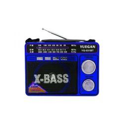 Портативное радио с USB входом для флешки и MP3 плеером YG 031 вт