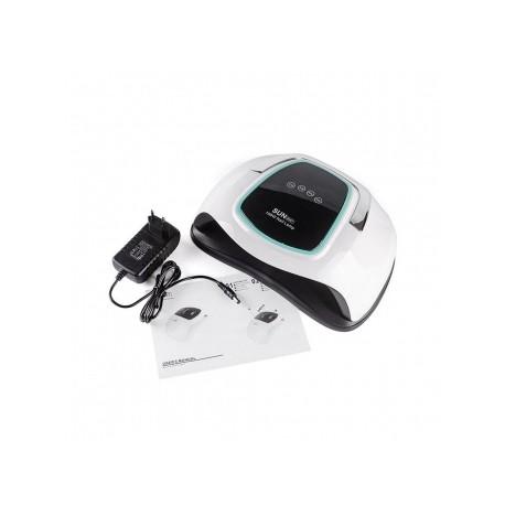 LED/UV Лампа SUN BQ-6T С РУЧКОЙ на две руки гибридная (с дисплеем) белая 108 Вт