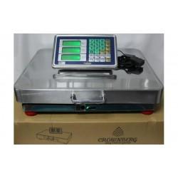 Торговые электронные весы Crownberg CB-700 с Wifi, до 700 кг (нержавейка) 42x52 см