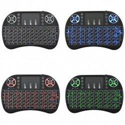 Беспроводная русская клавиатура с тачпадом Rii mini i8 + с Подсветкой