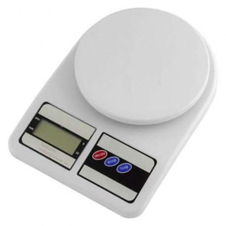 Весы кухонные электронные SF-400 10кг Белые
