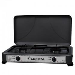 Газовая плита таганок Lexical LGS-2813-2 настольная на 2 конфорки