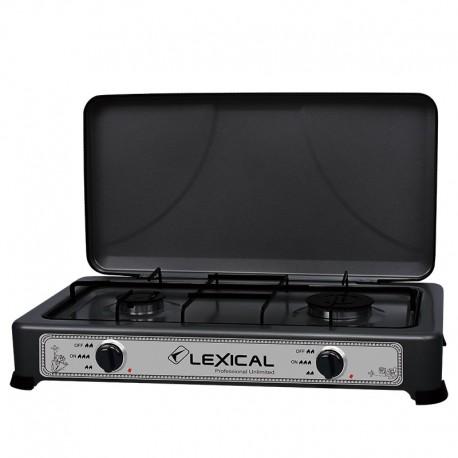 Газовая плита таганок Lexical LGS-2813-2 настольная на 3 конфорки