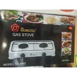 Газовая плита таганок Domotec MS-6662 настольная, 2 конфорки