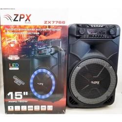 Колонка аккумуляторная ZPX Audio 7766 + радиомикрофон (ZPX Audio