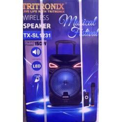 Колонка акумуляторная с микрофоном Tritronix TS SL-1231 / 150W (USB/FM/Bluetooth) В наличии