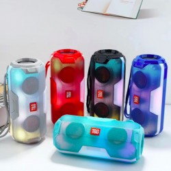 Беспроводная bluetooth колонка TG-143 Plus 10 W USB microSD TF MP3 со Светомузыкой Красный 172x84x70 мм TG143R