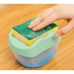 Диспенсер для мыла с держателем губки Caddy для мытья посуды 400 мл.