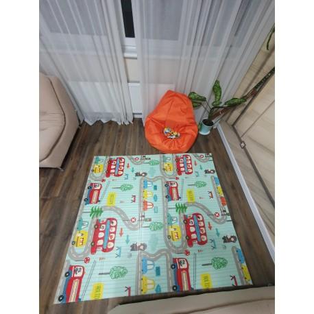 Детский развивающий коврик для новорожденных, мягкий складной портативный игровой коврик для детей, нетоксичны
