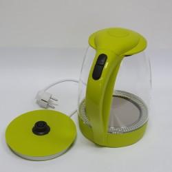 Электрический дисковый стеклянный чайник Promotech PM-810 green зеленый