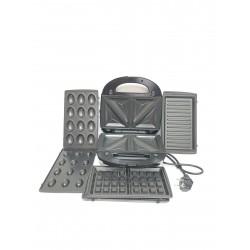 Мультимейкер Rainberg 4в1 вафельница, бутербродница, орешница, гриль 2200 Вт (RB-5408)
