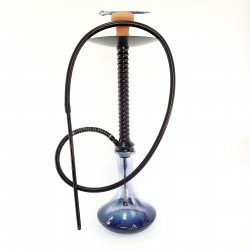 Кальян Radial с стеклянной колбой 75 см на 1 трубку черный кальян на одну персону