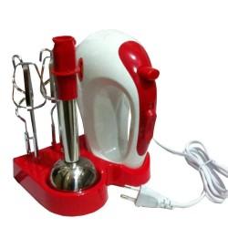 Ручной кухонный миксер Wimpex WX 434 с подставкой | ручной мини комбайн (300W, 5 скоростей)